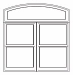 Combination - Arch Head over 2 wide double-hung
